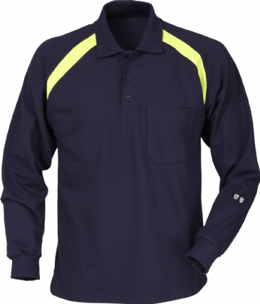 Fristads Flame Long Sleeve Polo Shirt 784 PFLA (Dark Navy)